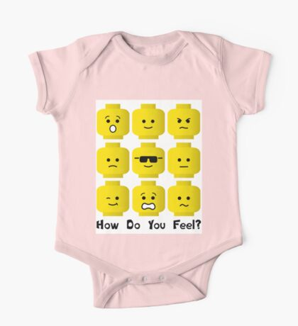 'How Do You Feel?' by Customize My Minifig  One Piece - Short Sleeve