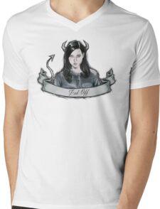 Aubrey Plaza Mens V-Neck T-Shirt