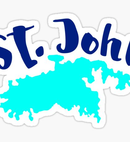 St. John US Virgin Islands Solid Sticker