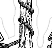 Anchor and Skulls Sticker