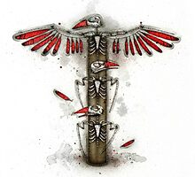 Bird Skeleton Totem by Kaitlin Beckett