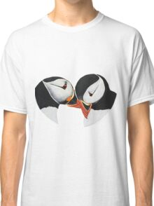 Puffins in love. Classic T-Shirt
