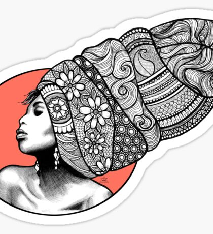 Tribal Head Piece Sticker