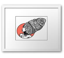 Tribal Head Piece Framed Print