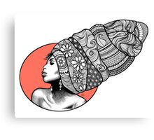 Tribal Head Piece Canvas Print