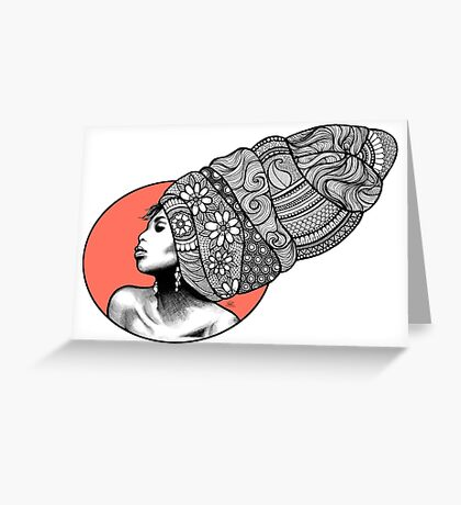 Tribal Head Piece Greeting Card
