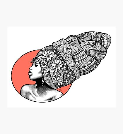 Tribal Head Piece Photographic Print