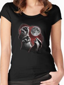 3 badger moon Women's Fitted Scoop T-Shirt