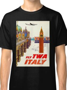 """""""TWA AIRLINES"""" Fly to Italy Advertising Print Classic T-Shirt"""