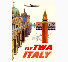 """""""TWA AIRLINES"""" Fly to Italy Advertising Print Unisex T-Shirt"""