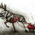 Deer & Cart by Kaitlin Beckett