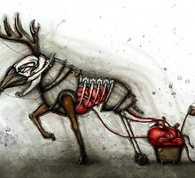 Deer & Cart by Kaitlin Beckett