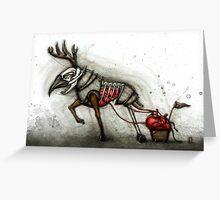 Deer & Cart Greeting Card