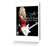 SAVN05 Dolly Parton Pure & Simple Tour 2016 Greeting Card