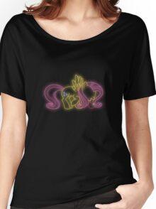Fluttershy Neon Glow (No Angel) Lights Women's Relaxed Fit T-Shirt