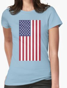 American flag USA Womens Fitted T-Shirt