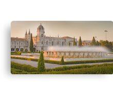 Praça do Império. Mosteiro dos Jerónimos. sunset Canvas Print