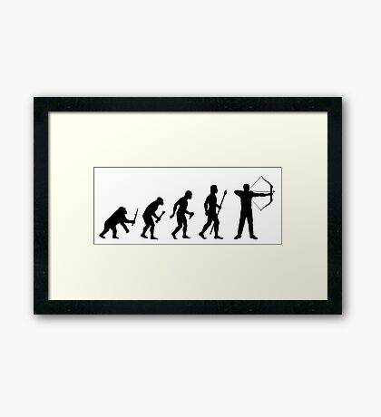 Archery Evolution Of Man Framed Print