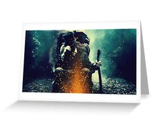 Doctor Who - Eleventh Doctor Poster Greeting Card