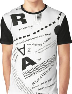 Rain Poem Typography 2 Graphic T-Shirt