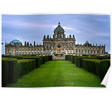 Castle Howard from the Gardens Poster