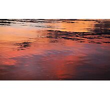 SUNSET ON WATER Photographic Print