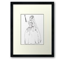 Angry Bride Framed Print