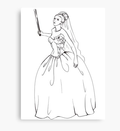 Angry Bride Canvas Print