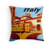"""TWA AIRLINES"" Fly to Italy Advertising Print Throw Pillow"