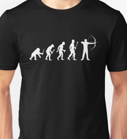 Evolution Of Archery Silhouette Unisex T-Shirt