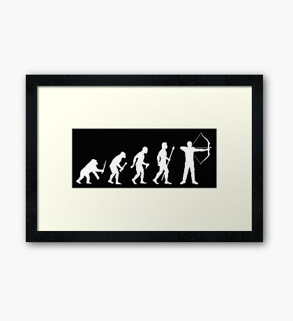 Evolution Of Archery Silhouette Framed Print