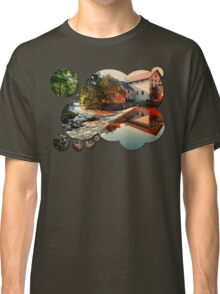 The river, a country house and reflections | waterscape photography Classic T-Shirt