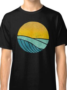 Vintage Sea Wave On Tides Classic T-Shirt
