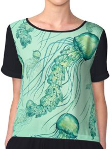 - Watercolor Jellyfish pattern - Chiffon Top