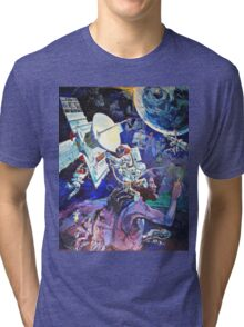 Spaceship Earth Mural Tri-blend T-Shirt