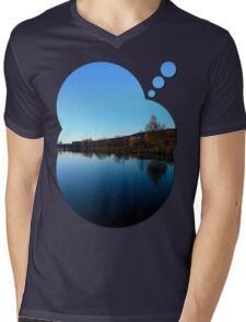 Indian summer sunset at the fishing lake | waterscape photography Mens V-Neck T-Shirt