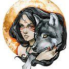- Wolf Moon - by Losenko  Mila