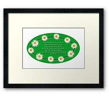 Blessing - With a Touch of Irish Humour! Framed Print