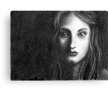 Shadow Portrait Canvas Print