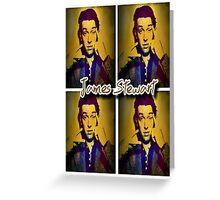 James Stewart Grid Greeting Card