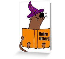 Smiletodaytees Sea Otter Reading Book Hairy Otter Greeting Card