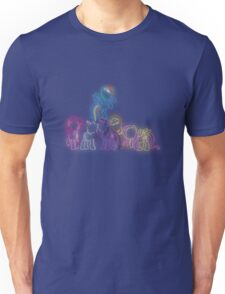 Pony Friends Neon Glow Lights Unisex T-Shirt