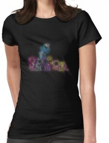 Pony Friends Neon Glow Lights Womens Fitted T-Shirt