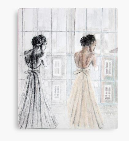 Bride Two Ways Canvas Print