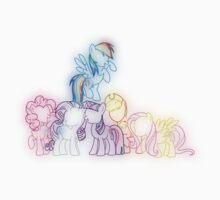 Pony Friends Neon Glow Nights One Piece - Short Sleeve