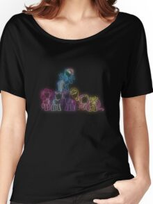 Pony Friends Neon Glow Nights Women's Relaxed Fit T-Shirt
