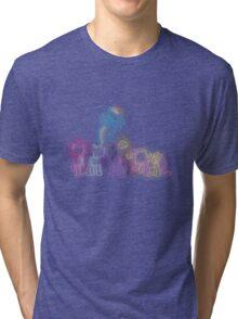 Pony Friends Neon Glow Nights Tri-blend T-Shirt