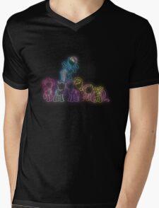 Pony Friends Neon Glow Nights Mens V-Neck T-Shirt