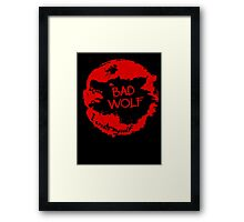 Bad Wolf - I Create Myself - Grunge Artwork Framed Print