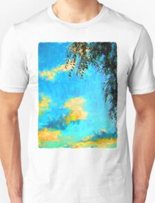 Yellow Clouds above the Treetops 2 Unisex T-Shirt